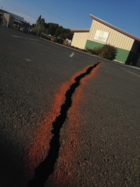 Epicenter of the Napa earthquake 2014.